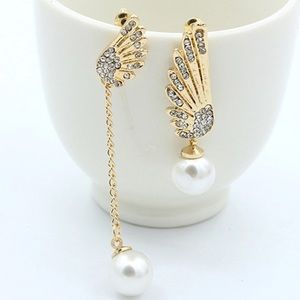 Asymmetrical Rhinestone Earrings! New